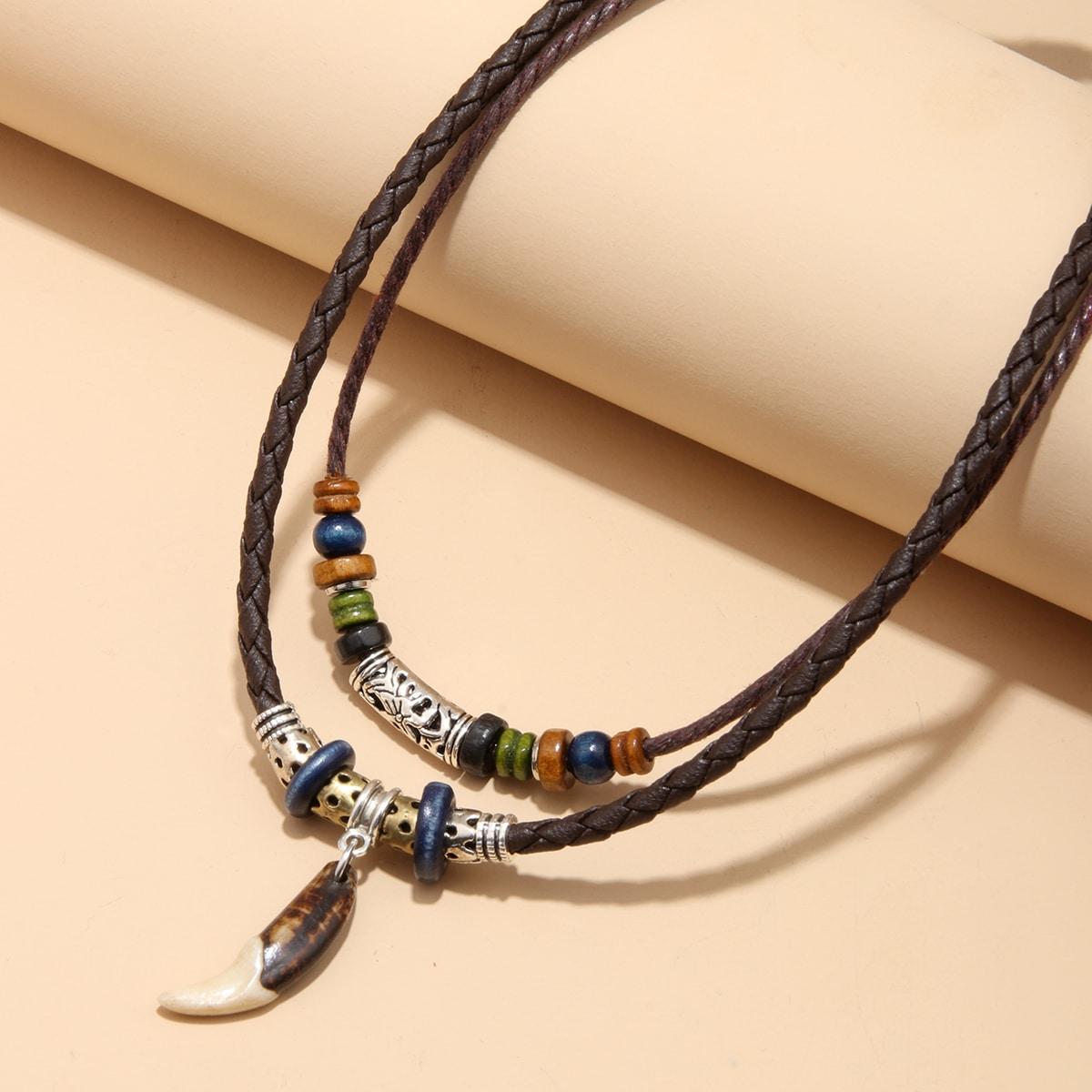 Мужское бисерное ожерелье от SHEIN