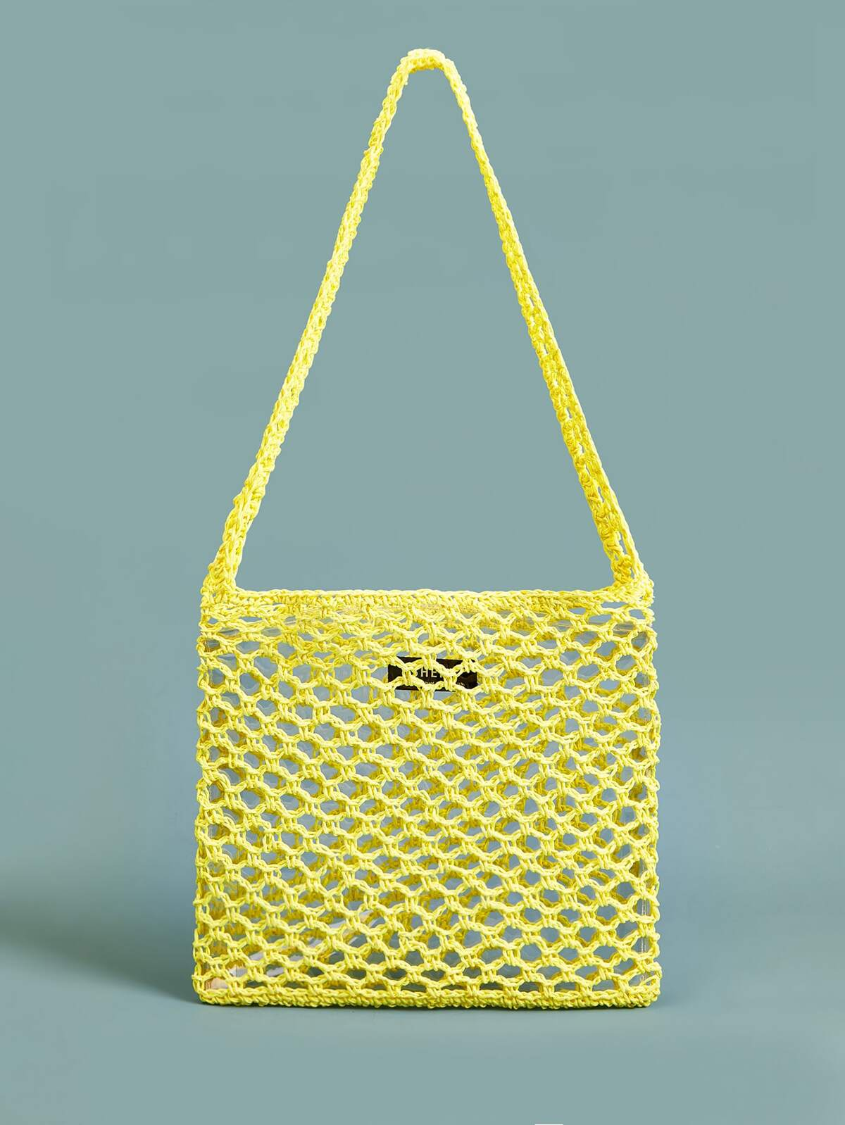 Crochet Hollow Out Tote Bag