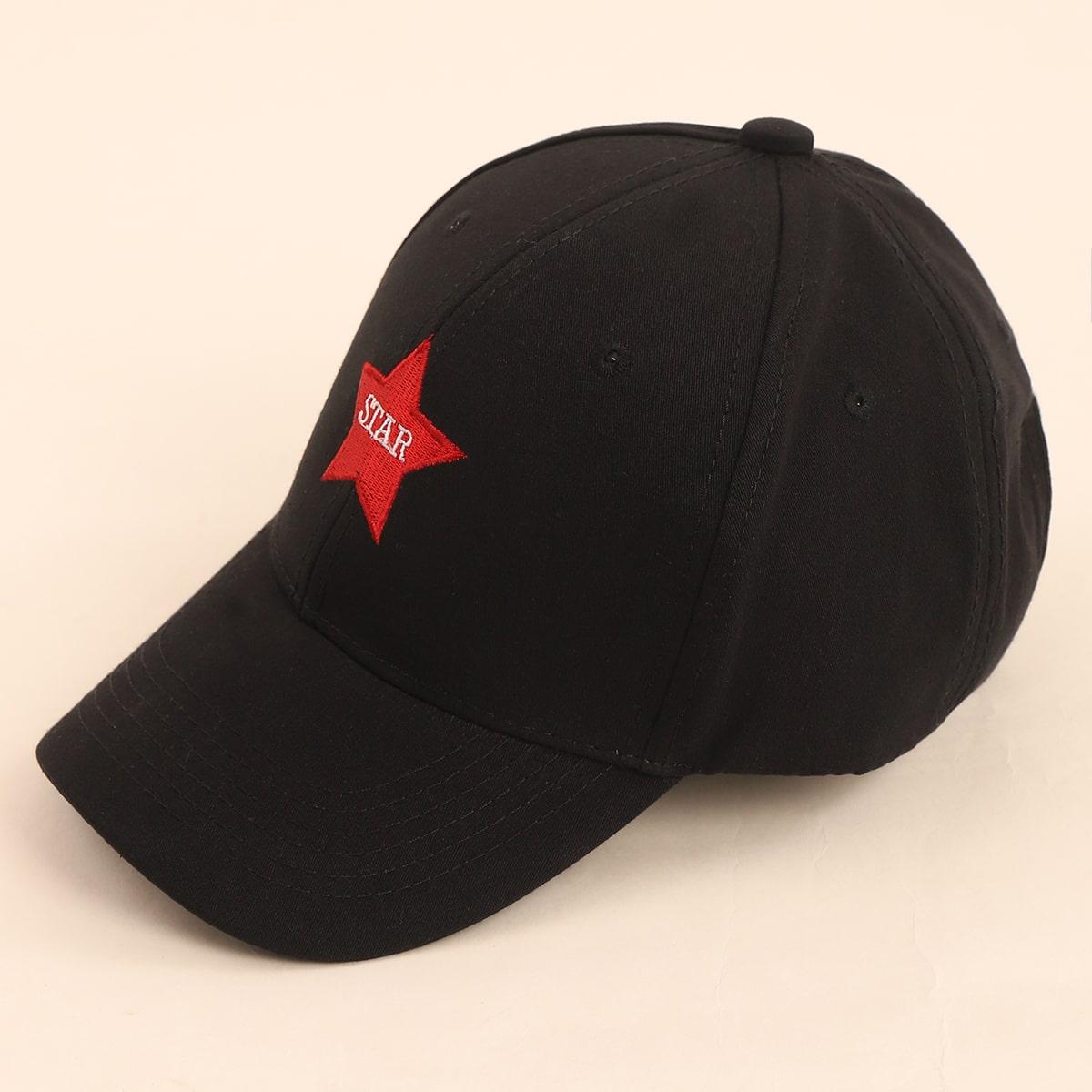 Звезда вышитая бейсболка