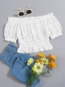 Shoulder | Ruffle | Lace | Off | Top