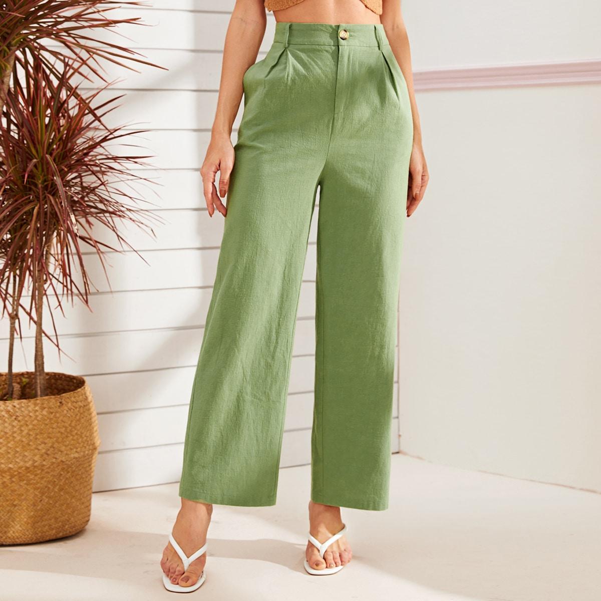 Широкие брюки с пуговицами