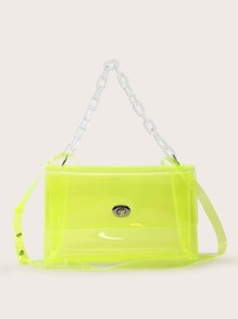 Clear   Neon   Tote   Bag