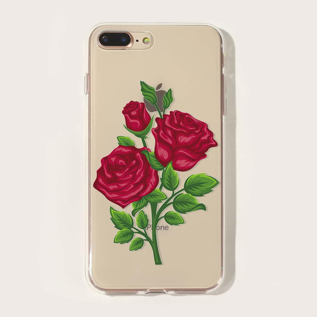 Чехол для iPhone с розовым принтом