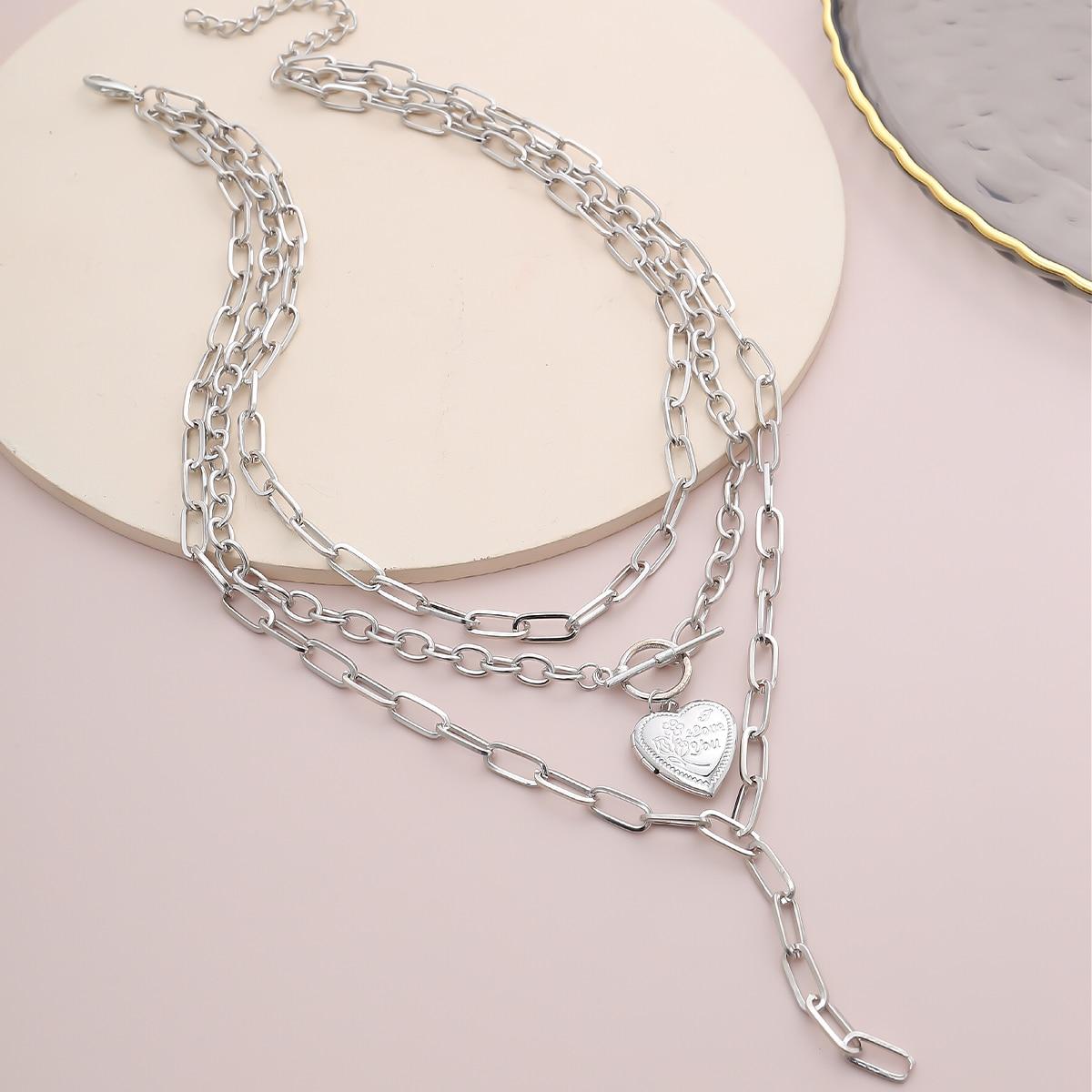 Мужское ожерелье с декором сердечка от SHEIN