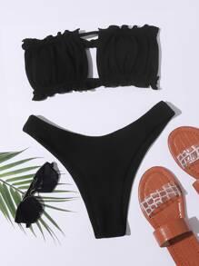 Swimsuit | Bandeau | Ruched | Bikini