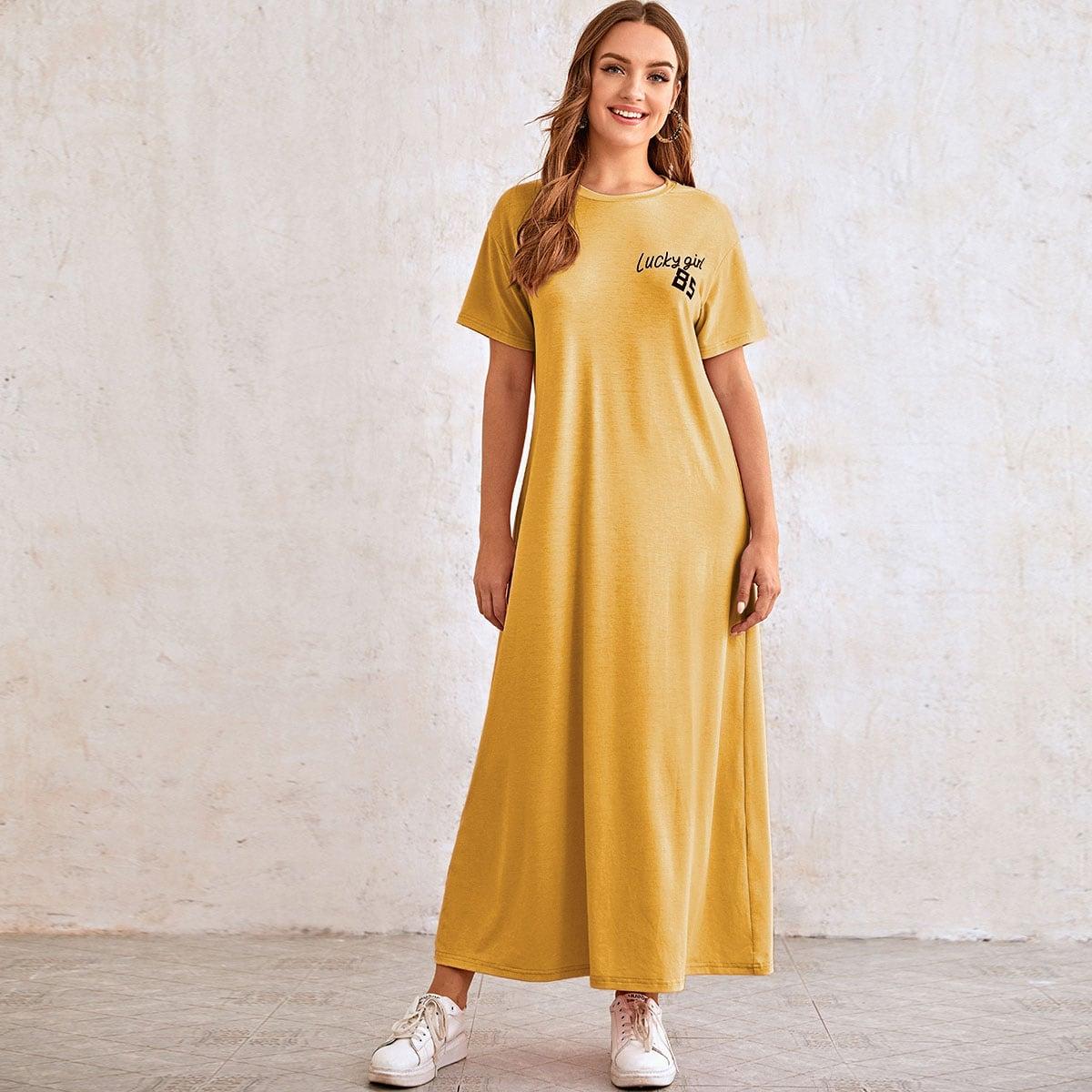Платье с текстовым принтом фото
