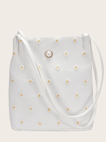 Embroider   Daisy   Tote   Bag