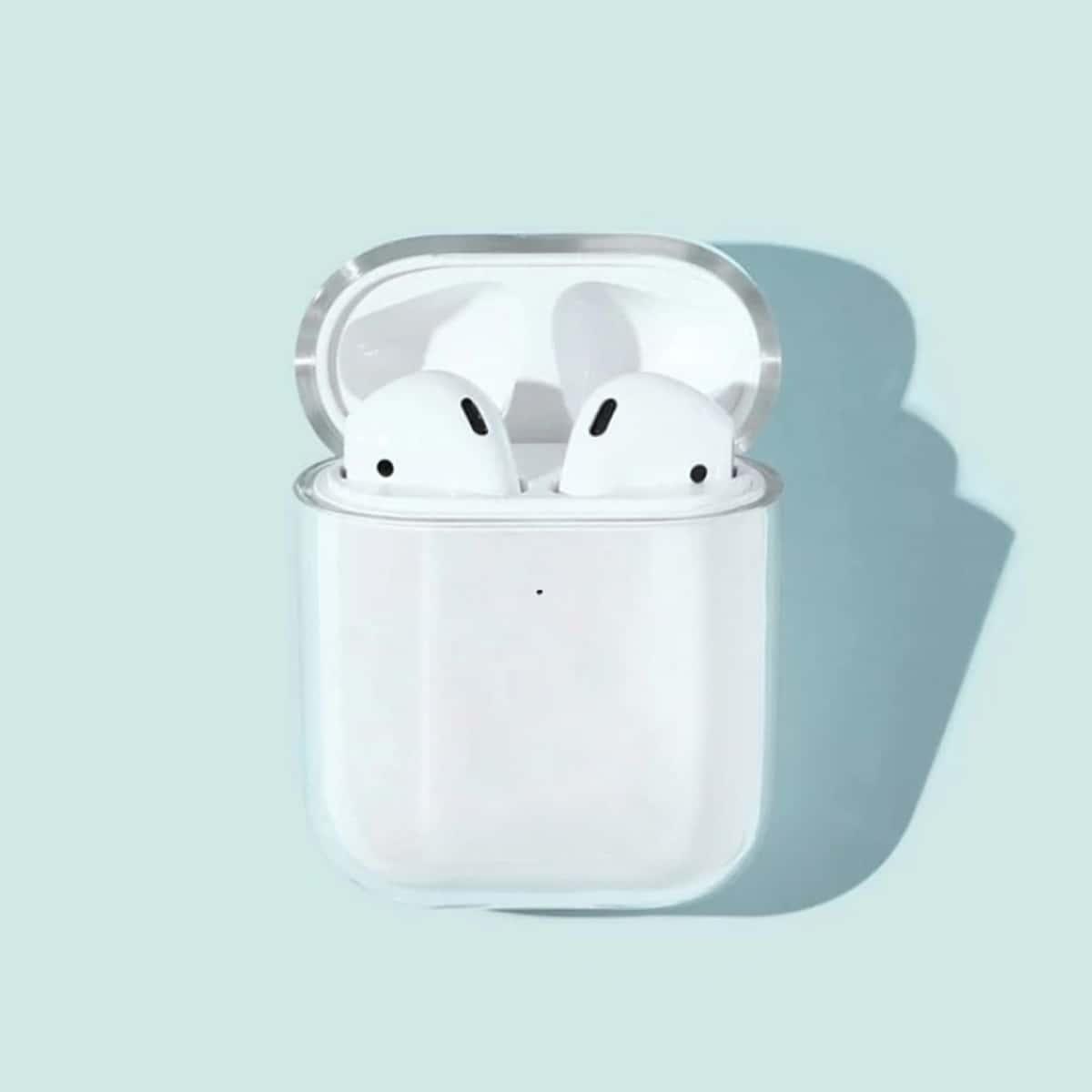 SHEIN / 1 Stück Einfarbige transparente Airpods Hülle