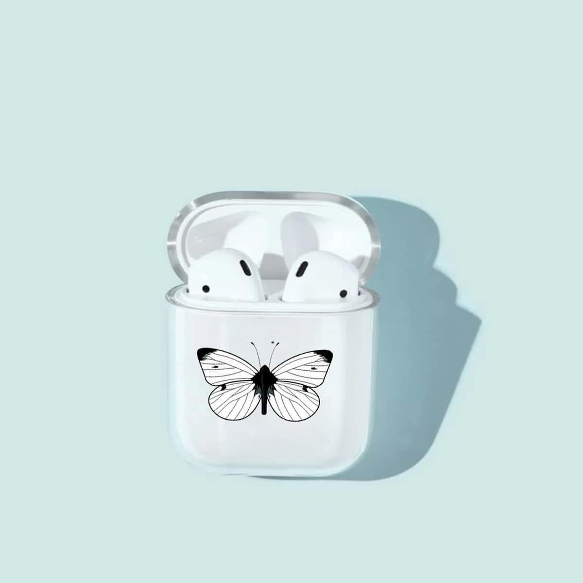 SHEIN / Airpods Hülle mit Schmetterling Muster