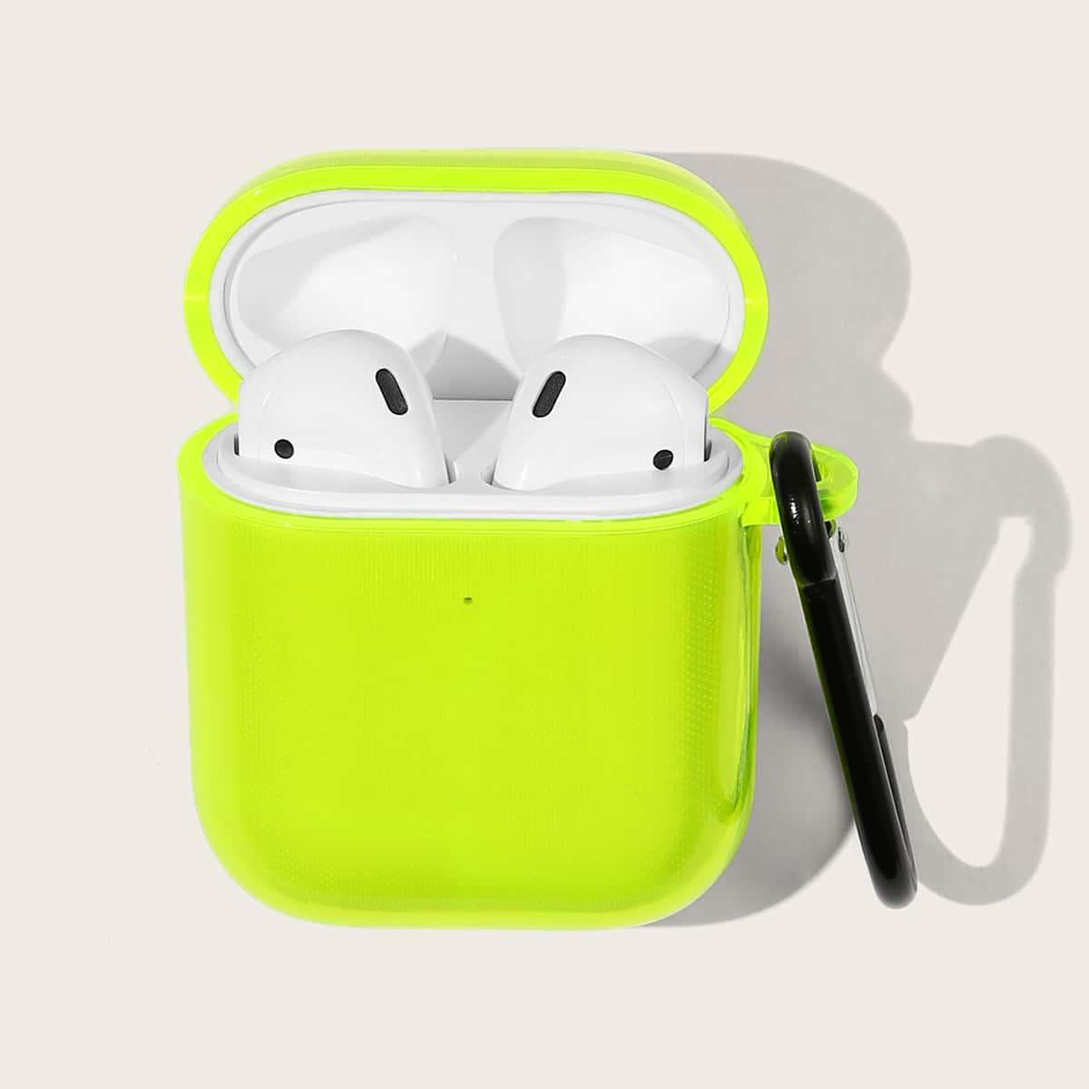 SHEIN / Einfarbige transparente Airpods Hülle