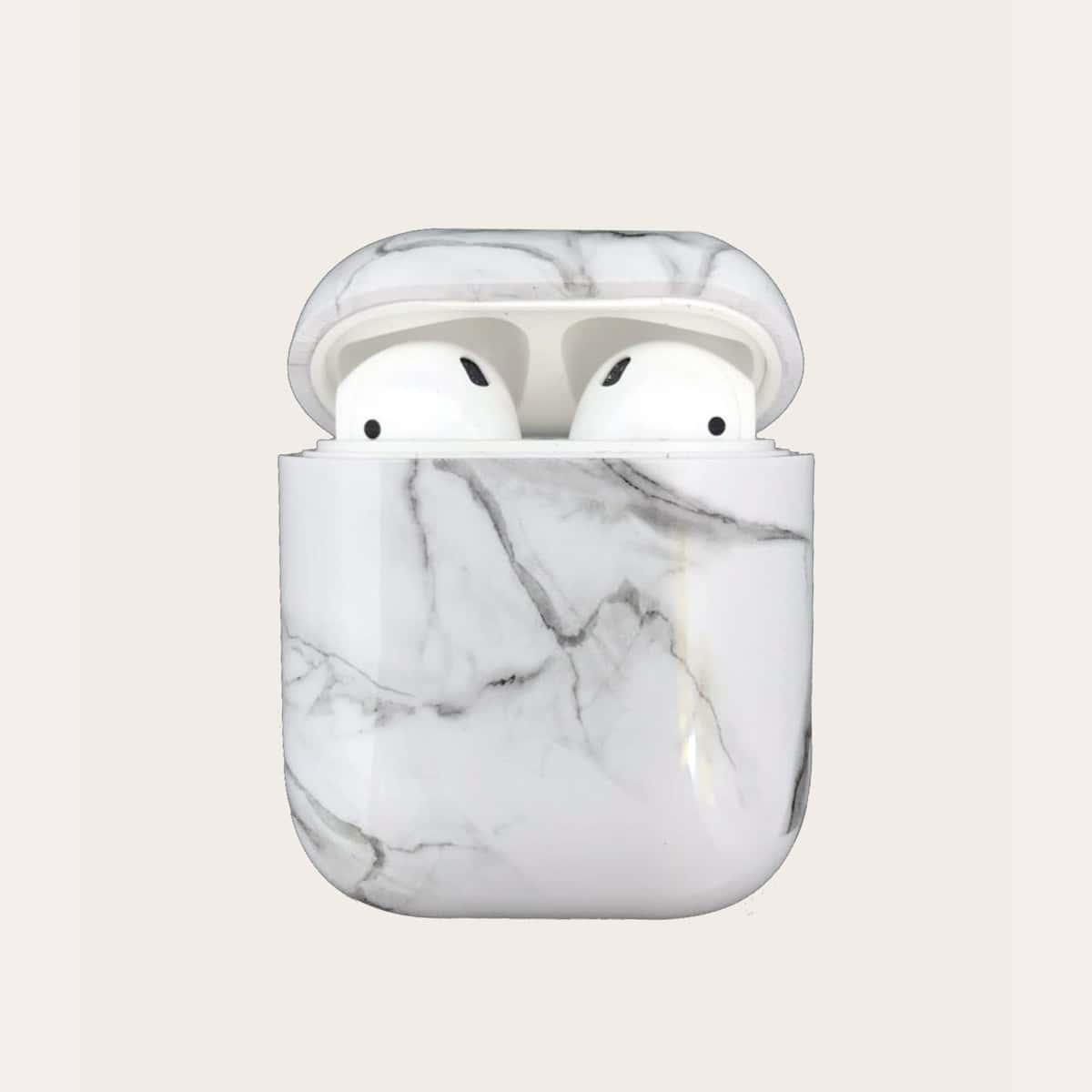 SHEIN / 1 Stück Airpods Hülle mit Marmor Muster