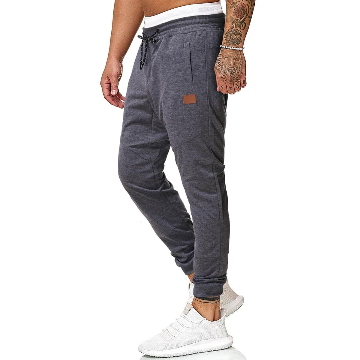 Мужские спортивные брюки на кулиске фото