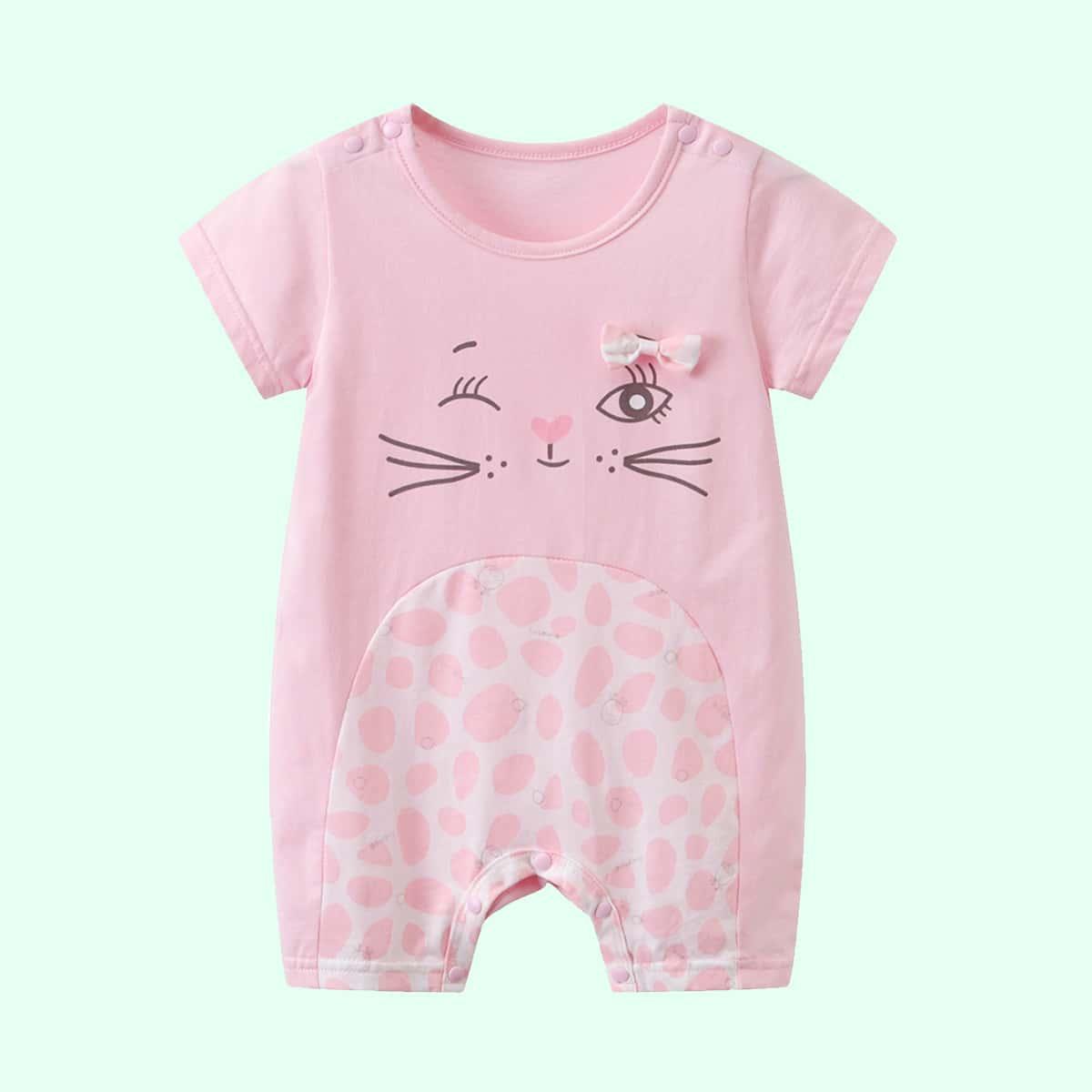 Комбинезон-футболка с мультяшным принтом для девочек от SHEIN