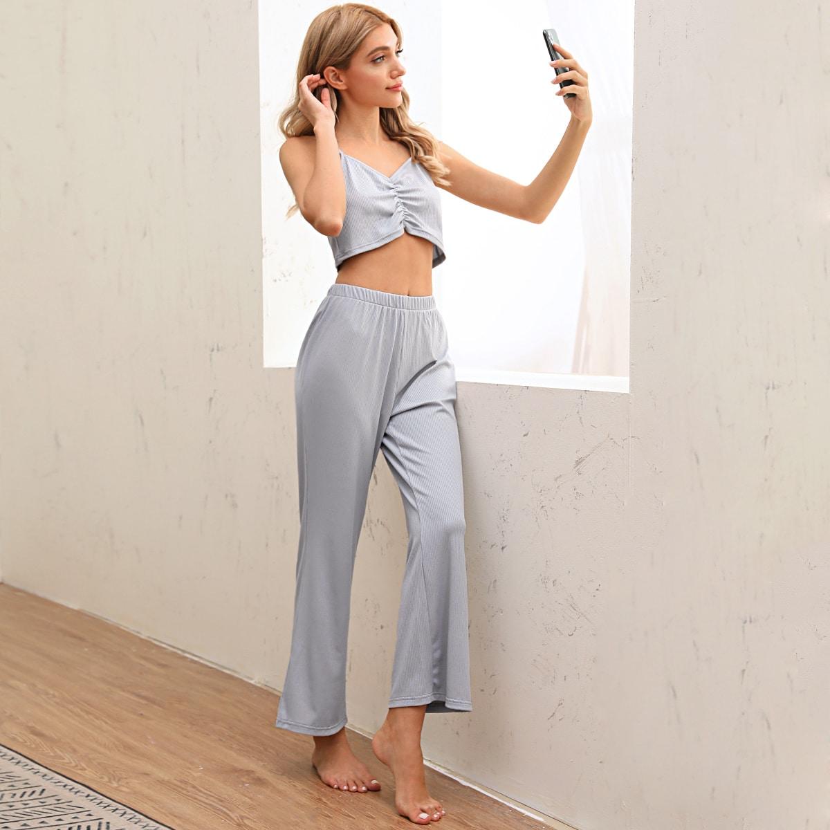 Вязаная пижама со складкой фото