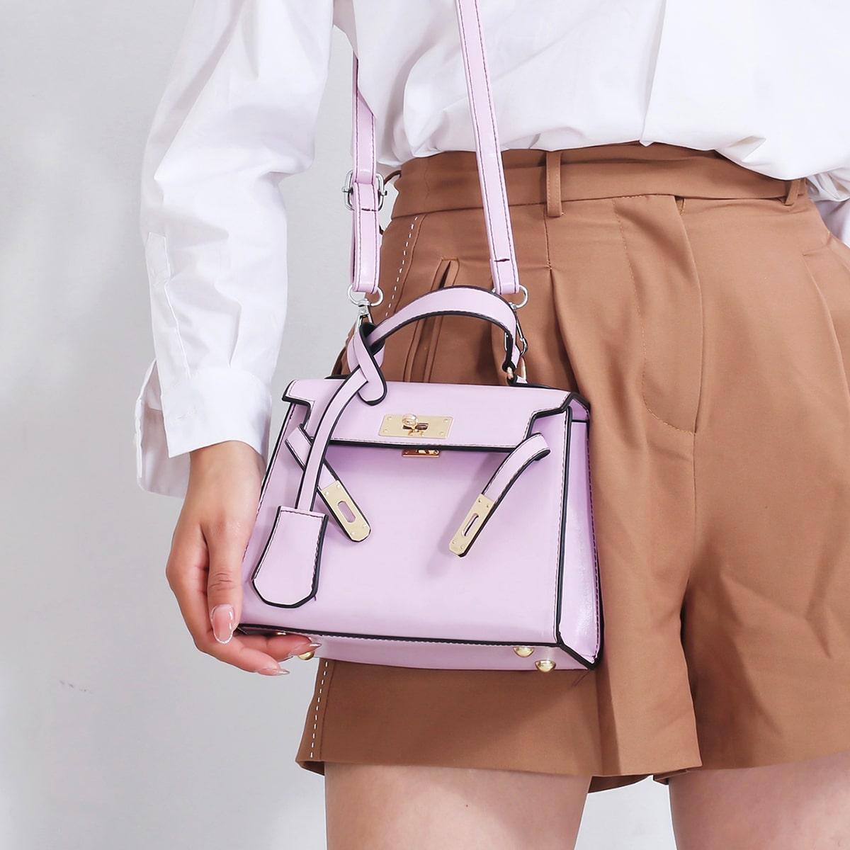 SHEIN / Scarf Decor Satchel Bag