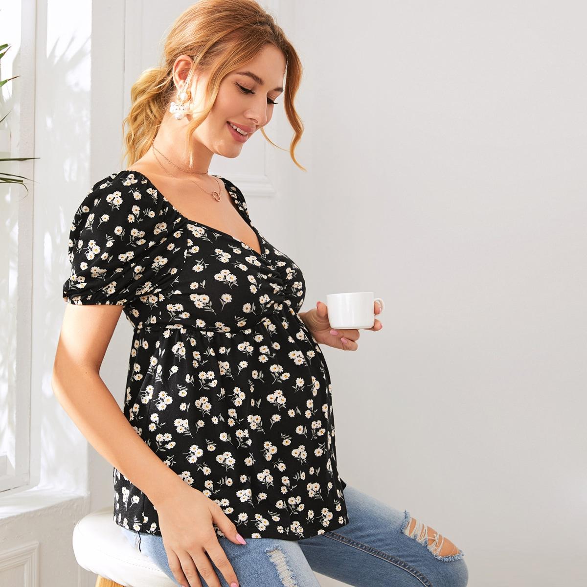 Maternity Топ с цветочным принтом от SHEIN