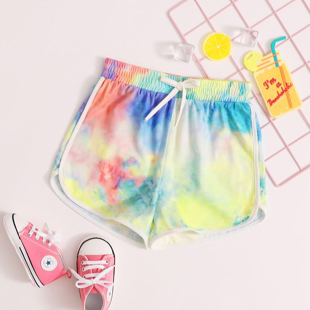 Разноцветные шорты для девочек от SHEIN