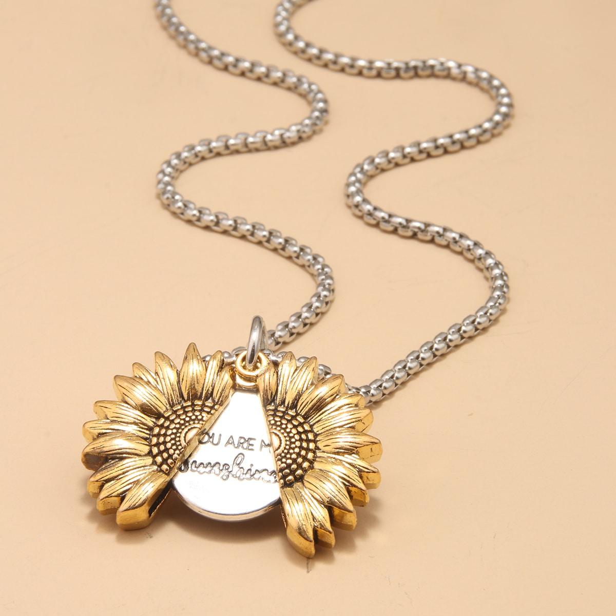 Мужское ожерелье с подсолнухом от SHEIN