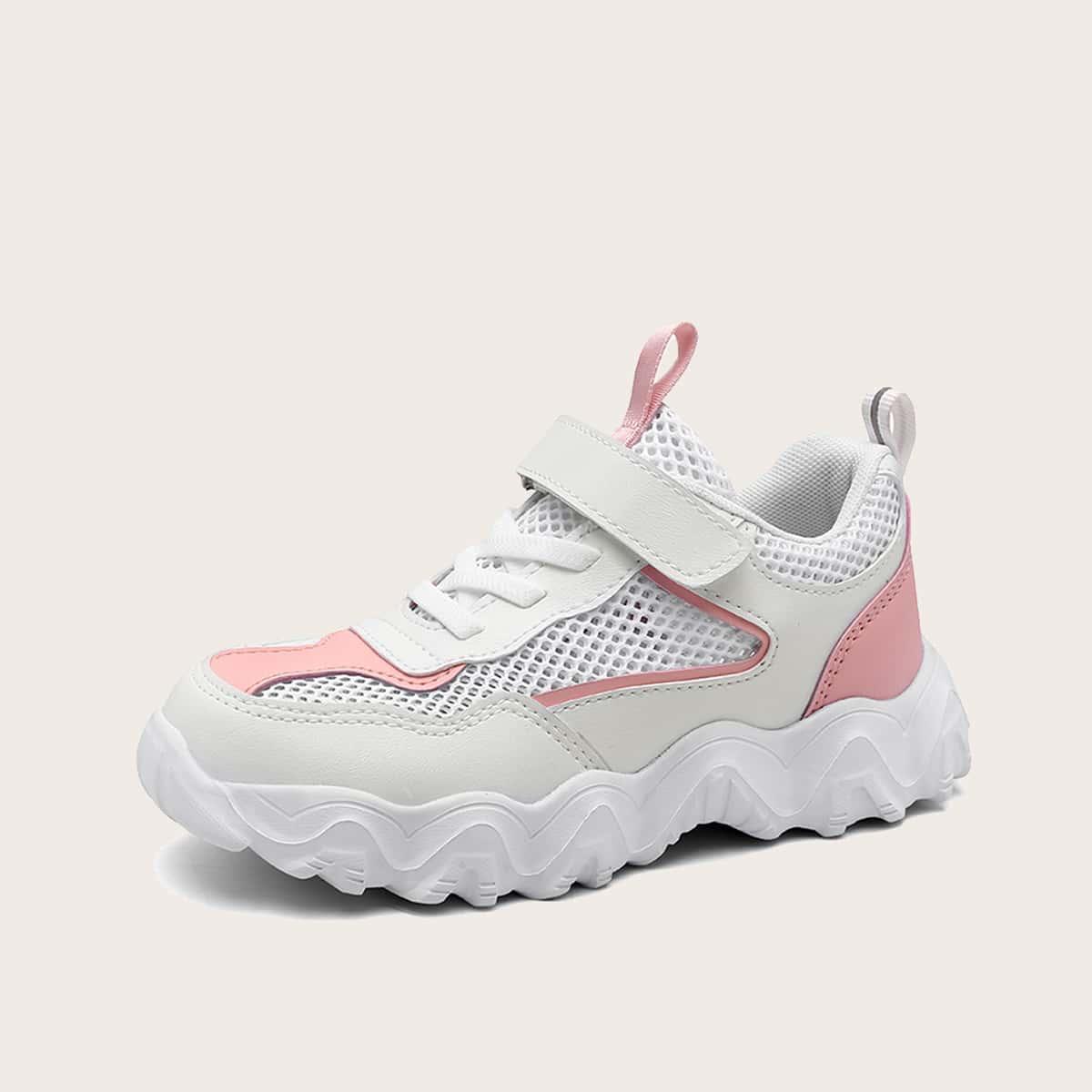 Сетчатые контрастные кроссовки для мальчиков от SHEIN
