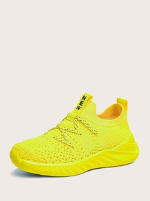 Sneaker   Yellow   Front   Neon