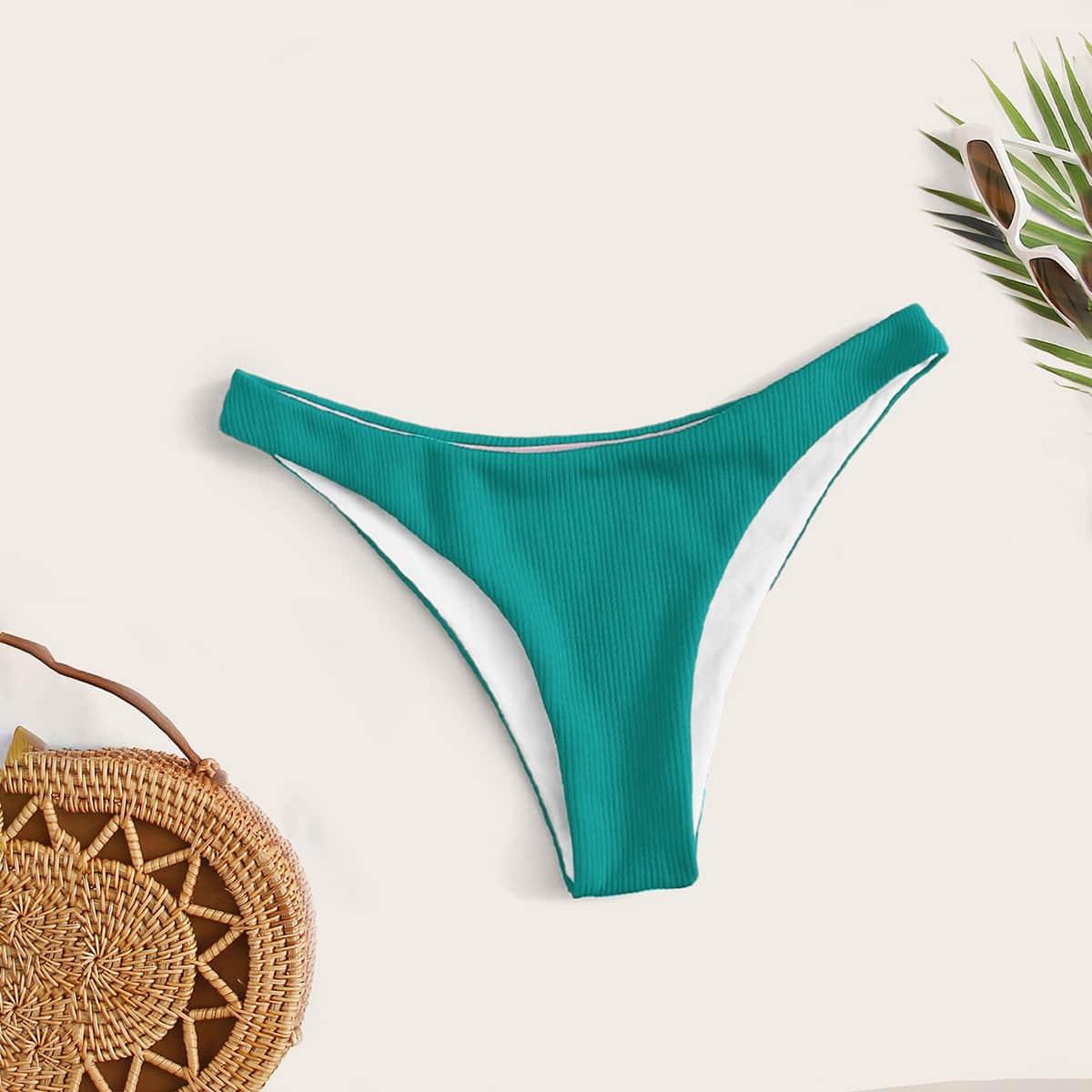 shein Groen Sexy Vlak Bikini bottom