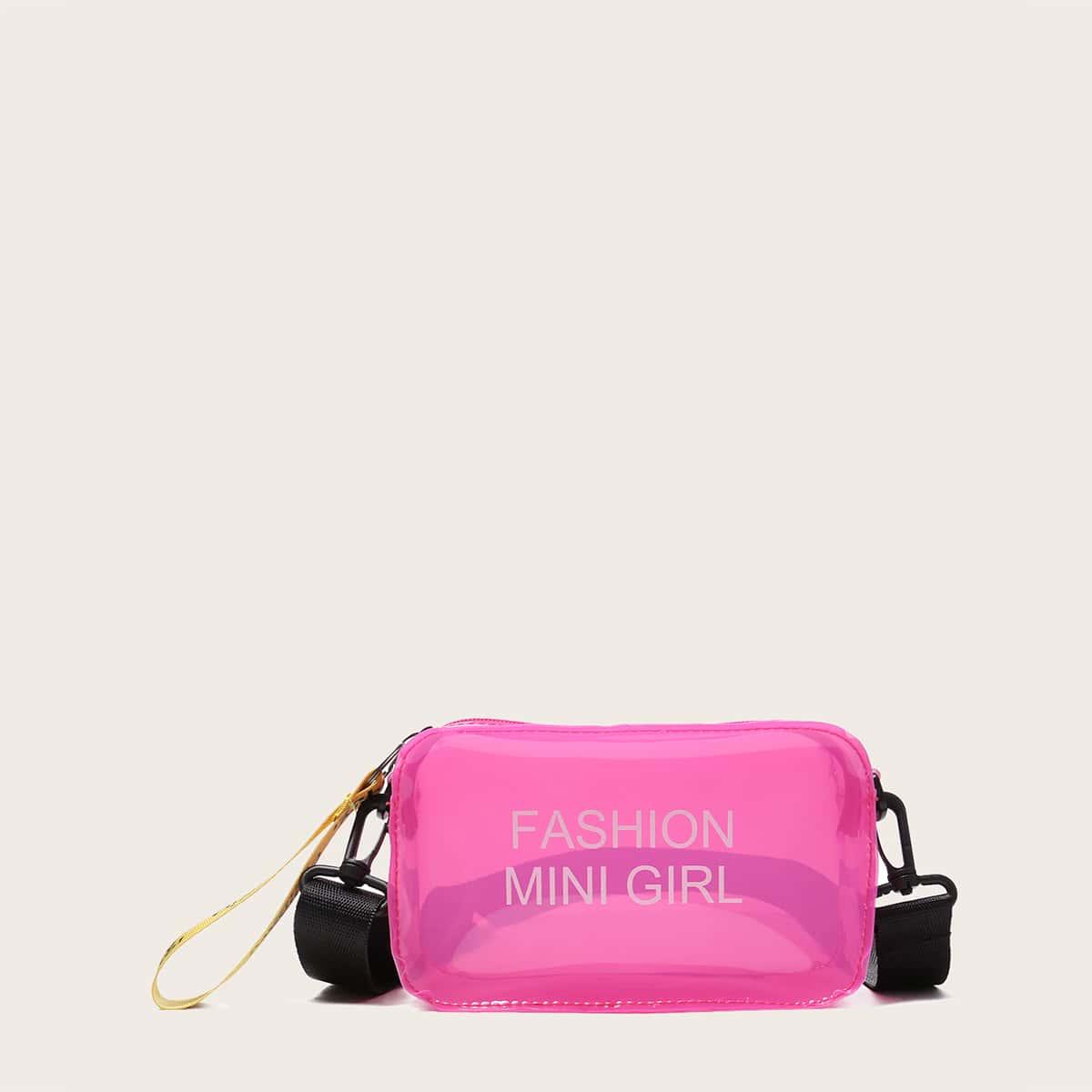 Прозрачная сумка через плечо с принтом для девочек
