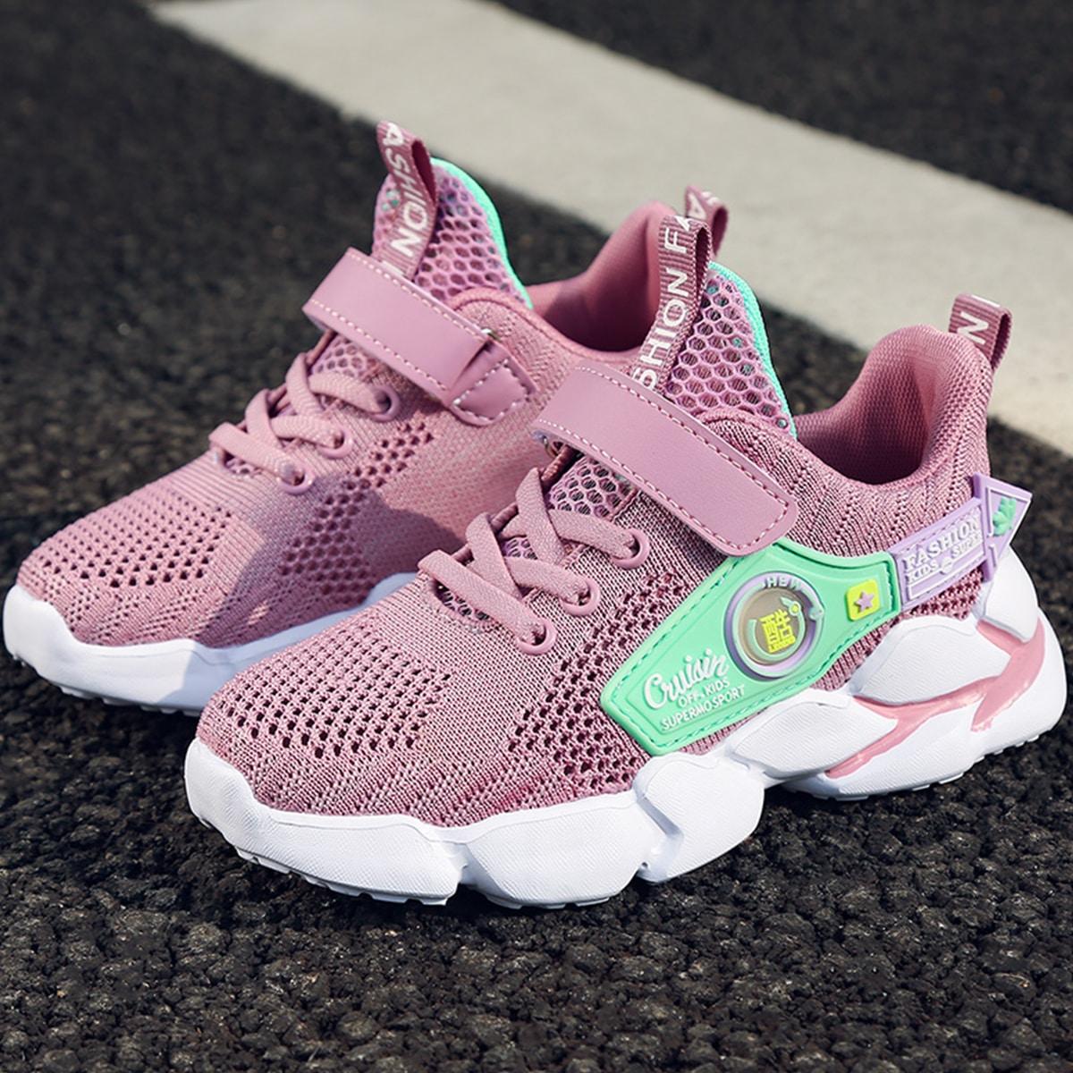 Нескользящие трикотажные кроссовки для девочек от SHEIN
