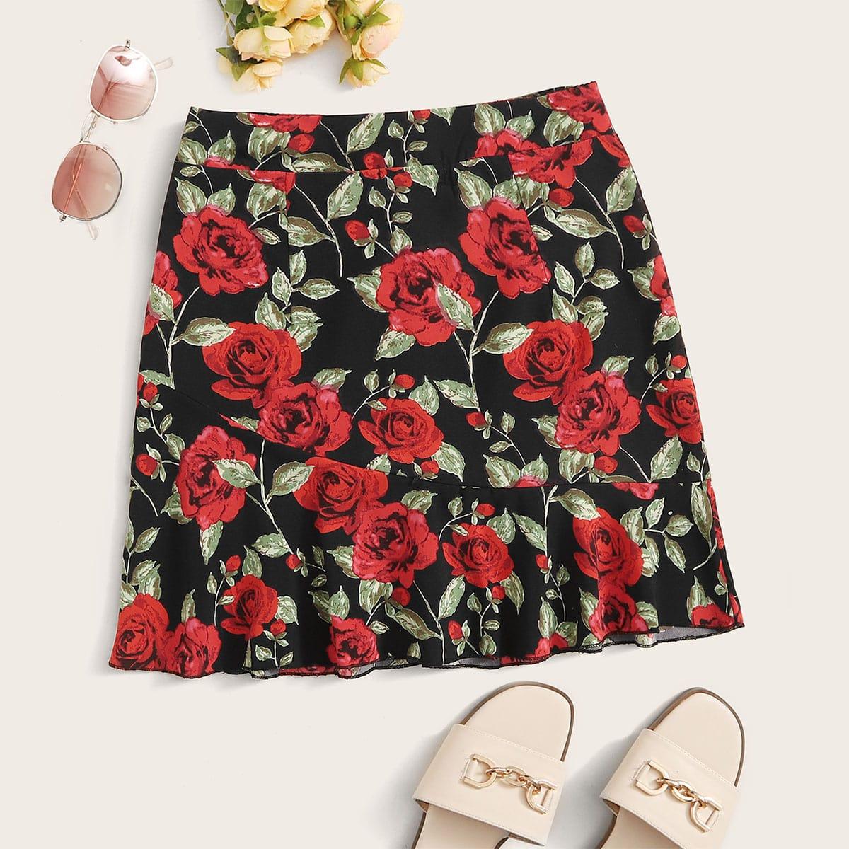 Цветочная юбка размера плюс фото