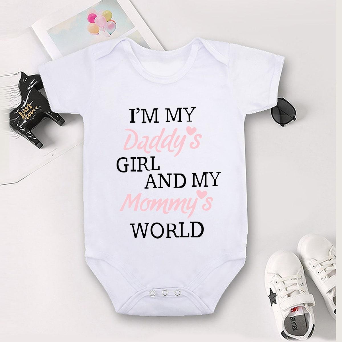 Боди-футболка с текстовым принтом для девочек от SHEIN