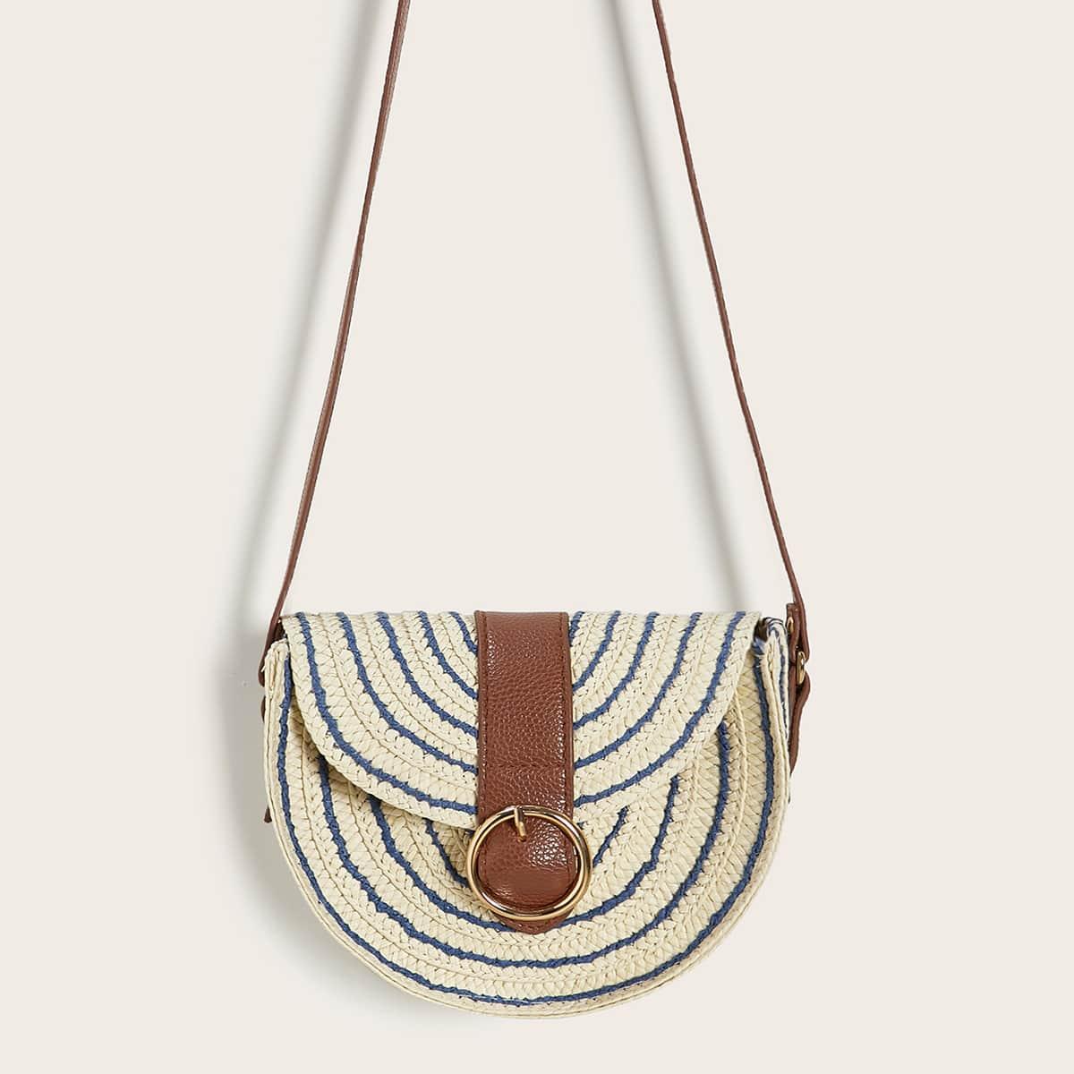 Плетеная сумка через плечо фото