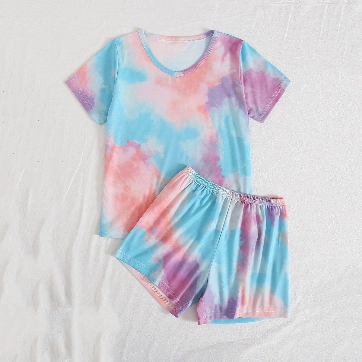 Разноцветная пижама для девочек фото