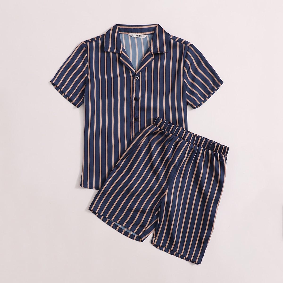 Пижама в полоску для мальчиков от SHEIN