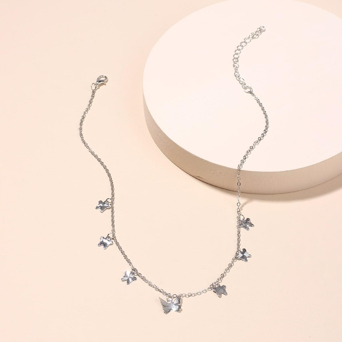 Ожерелье с бабочкой фото