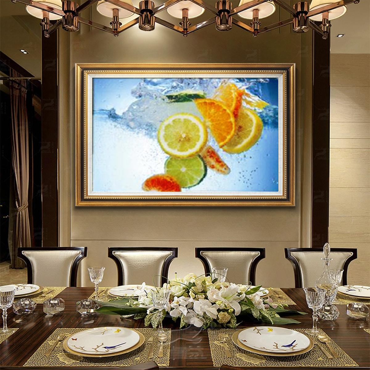 Стикер на стену с принтом лимон без рамки фото