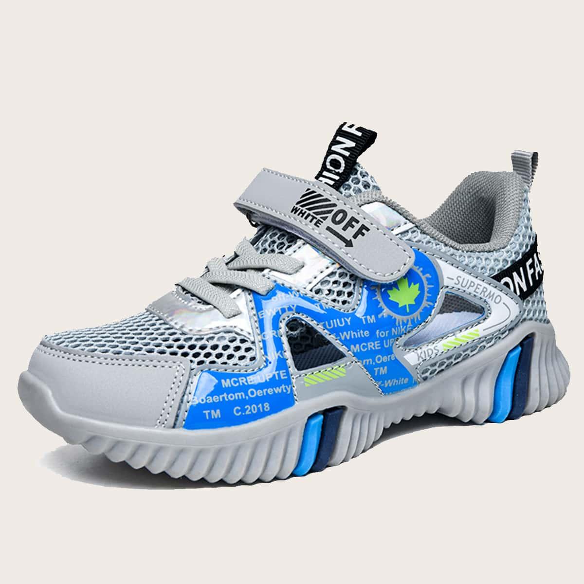 Дышащие сетчатые кроссовки для мальчиков от SHEIN