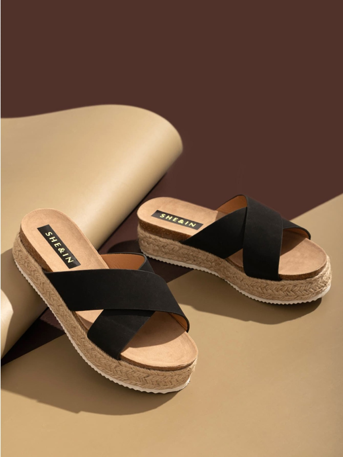 Criss Cross Espadrille Wedge Mules