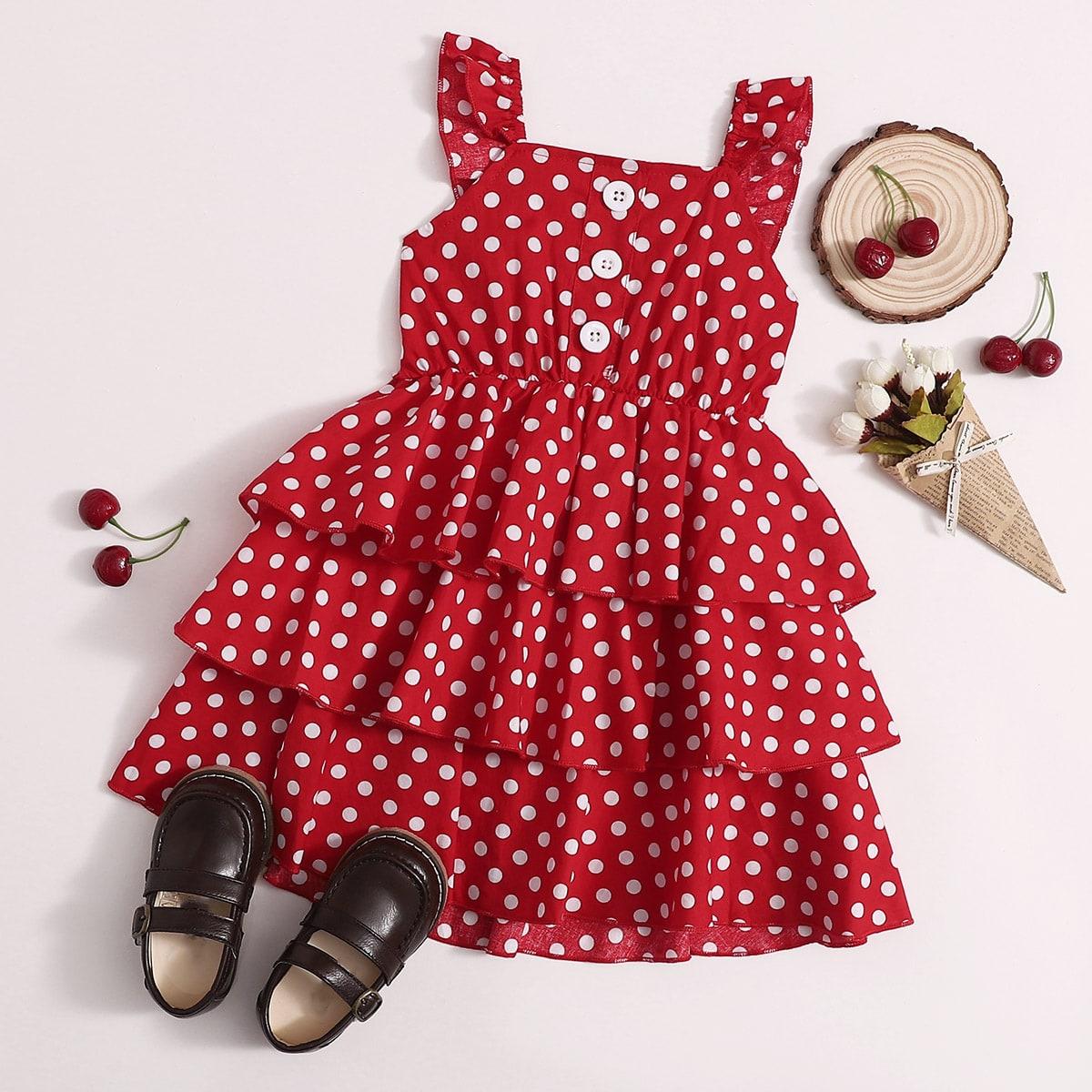 Платье в горошек для девочек
