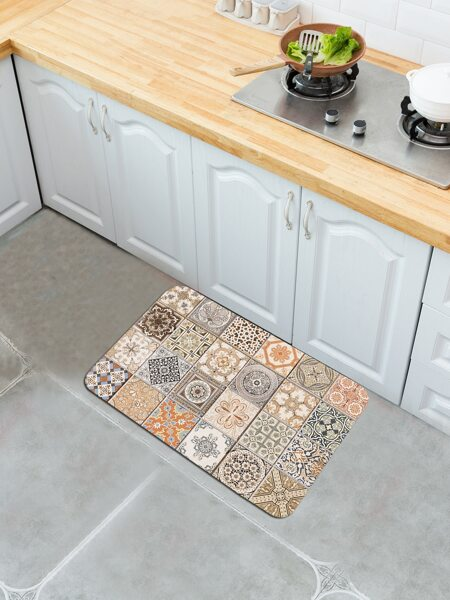 Mixed Vintage Pattern Floor Mat