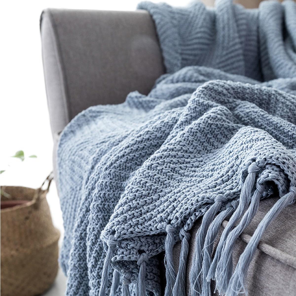 Однотонное одеяло с бахромой фото