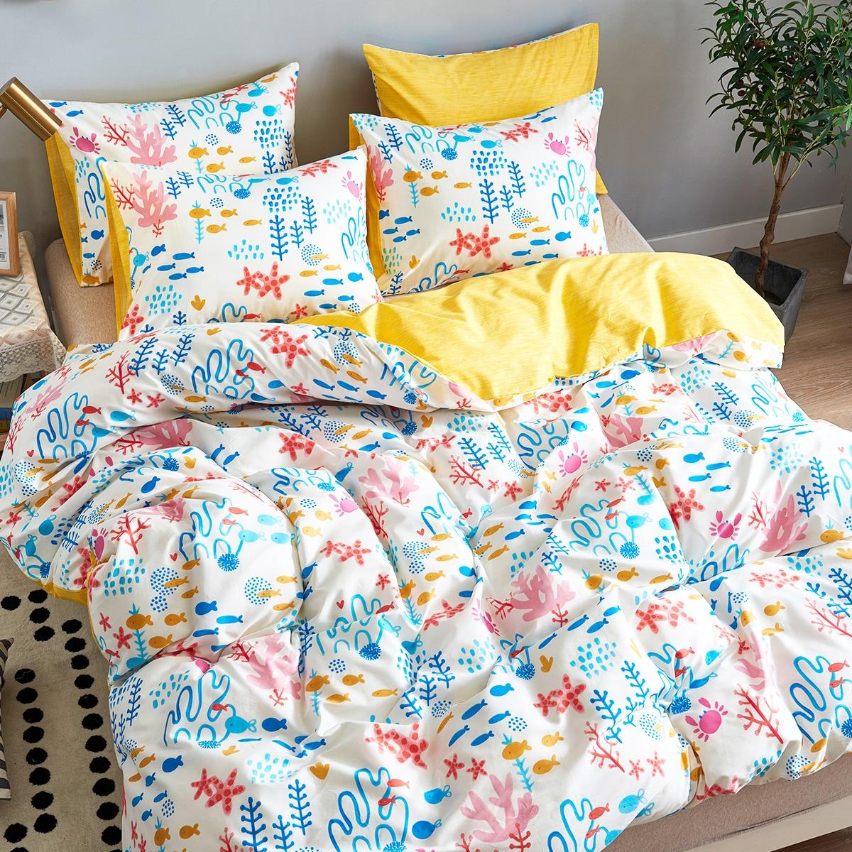 Комплект постельного белья с принтом