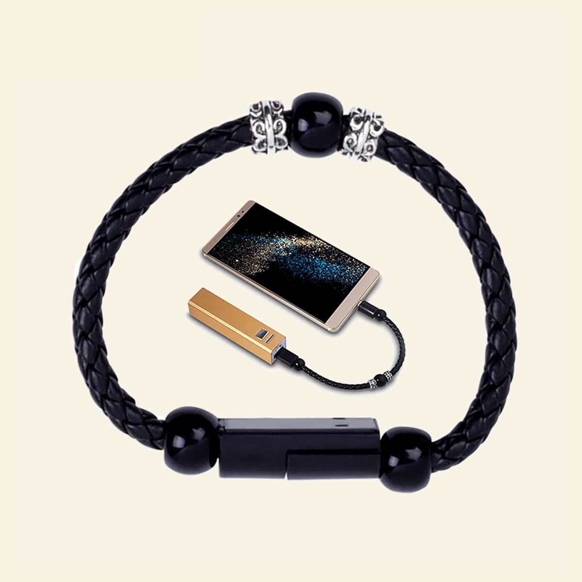 1шт Творческий браслет типа C кабель для передачи данных фото