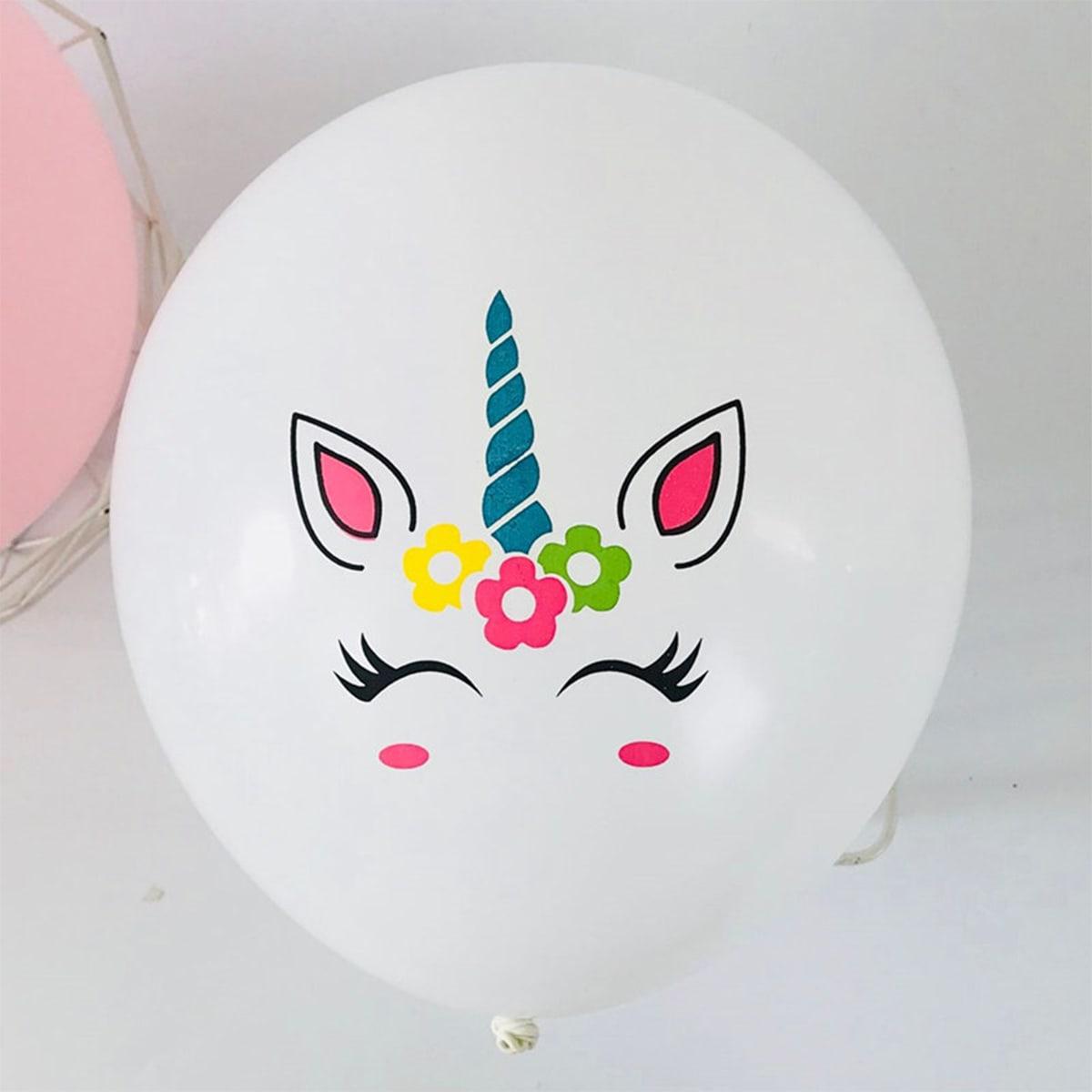 10шт воздушный шар с принтом единорога