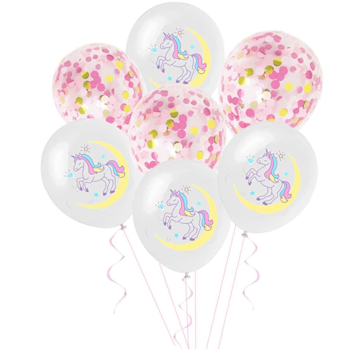 15шт воздушный шар с принтом единорога