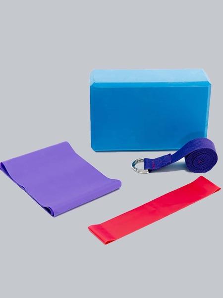 4pcs Set Yoga Resistance Belt & Yoga Brick