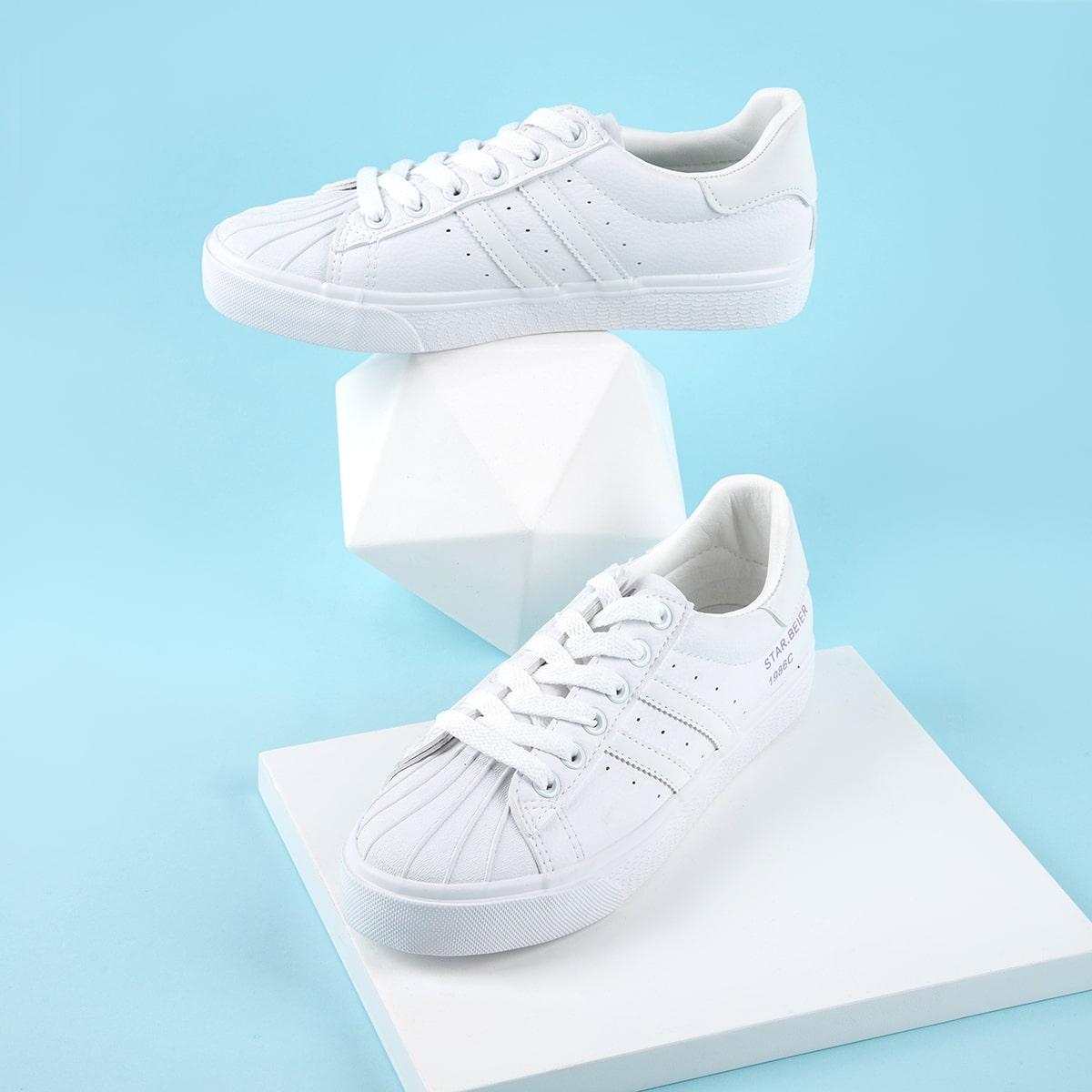 Zapatos arriba baja con cordón delantero