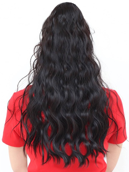 Natural Long Curly Ponytail Hair