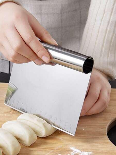 1pc Stainless Steel Dough Scraper