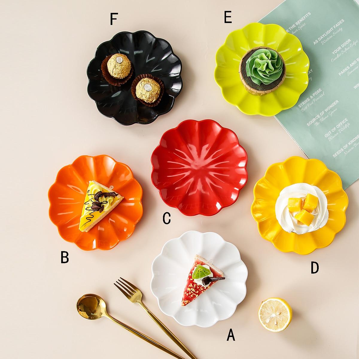 Поднос для закусок в форме цветка 1шт фото