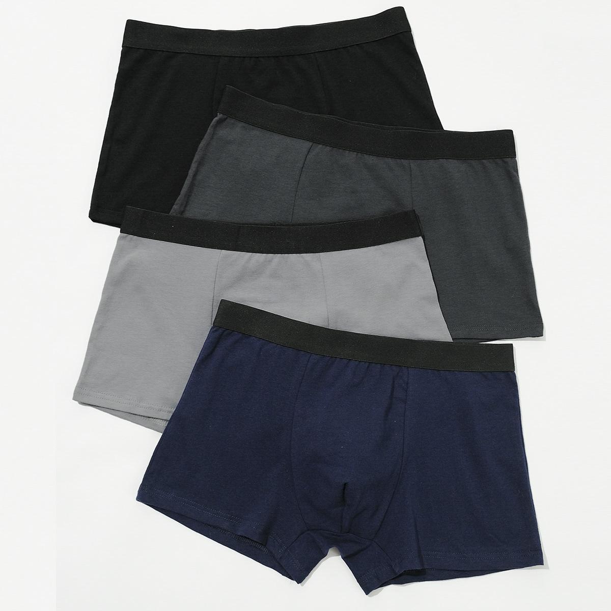 Многоцветный Цвет блок мода Повседневный Мужское нижнее белье от SHEIN