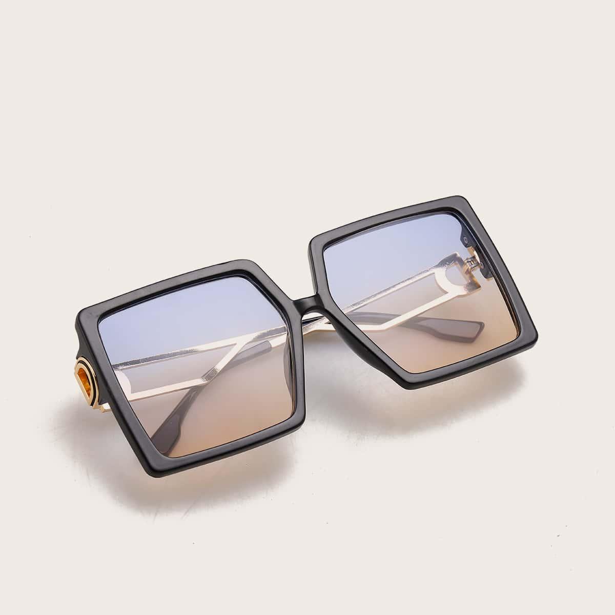 SHEIN / Sonnenbrille mit quadratischem Rahmen und getönten Gläser